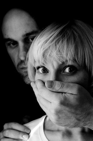 domestic violence black and white