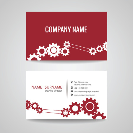 business card for engineer and Mechanical
