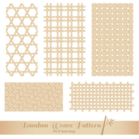 Bamboo Weave pattern vector art design