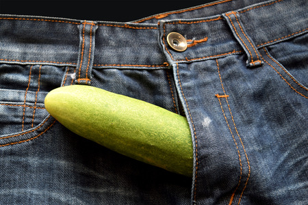 cucumber is the mark of penis in jean