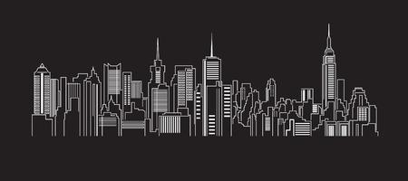 Foto de Cityscape Building Line art Vector Illustration design - Imagen libre de derechos