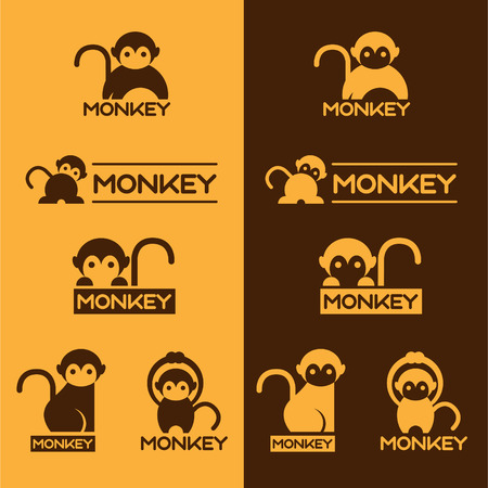 Yellow and Brown Monkey set design