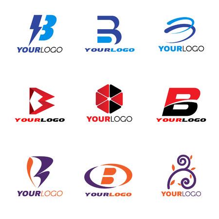 Letter B logo vector set design