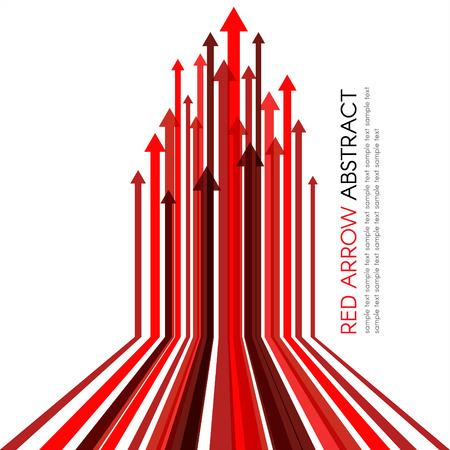 Foto für Red arrow line upper vector abstract background - Lizenzfreies Bild