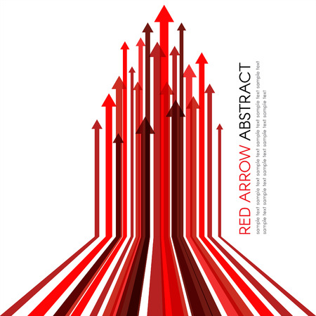 Illustration pour Red arrow line upper vector abstract background - image libre de droit