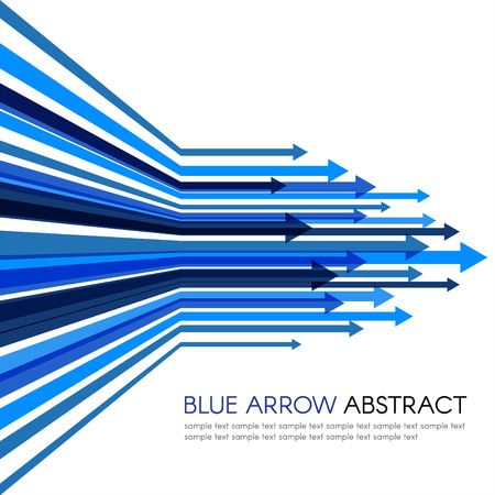 Blue arrow line sharp vector abstract background