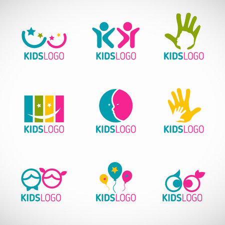 Illustration pour Kids icon vector set design - image libre de droit
