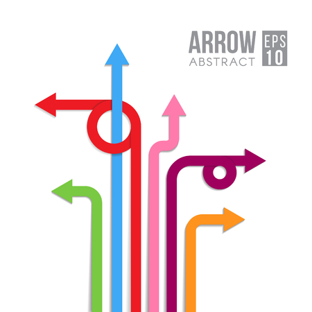 Arrow direct signs abstract design