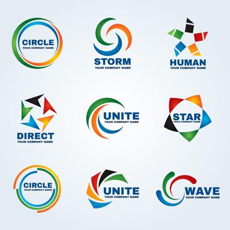 Illustration for Circle logo , vector art design for business - Royalty Free Image