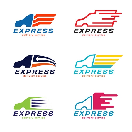 Photo pour Truck Car Express delivery service Logo.  vector set design - image libre de droit