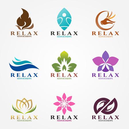 Illustration pour logo vector set design for massage and spa business. - image libre de droit