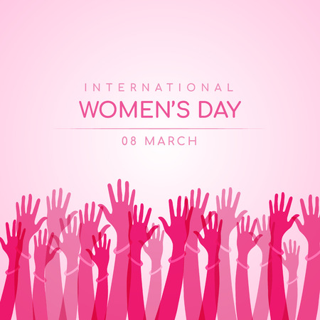 Illustration pour International women day design - image libre de droit