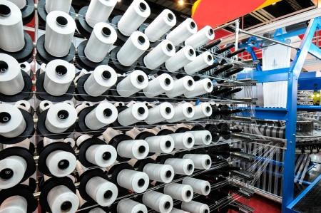 Photo pour Textile industry - Weaving and warping - image libre de droit