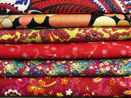 Bright colored print textiles for sewing and patchwork