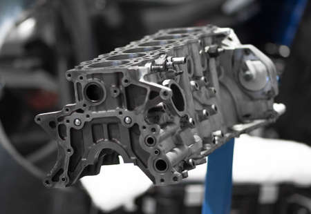 Photo for Engine block. Disassembled engine from the car. - Royalty Free Image