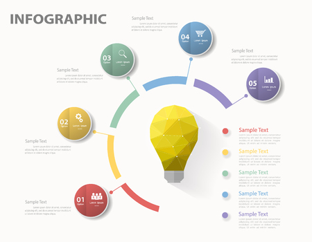 Illustration pour Infographic template. Vector illustration can be used for workflow layout, diagram, number options - image libre de droit