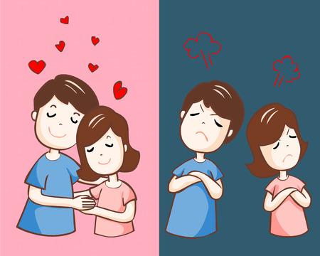 Illustration pour lover hate and love each other vector illustration - image libre de droit