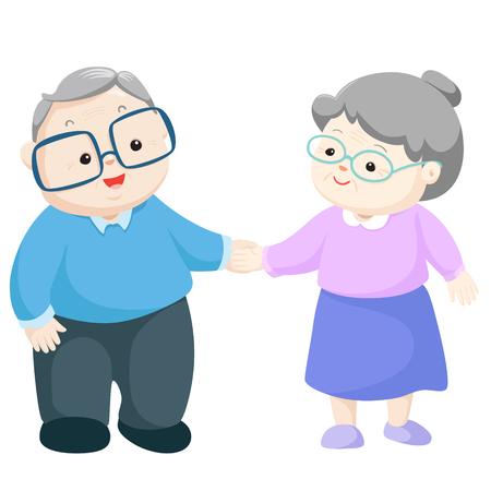 Illustration for Happy grandparents vector illustration. - Royalty Free Image