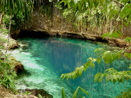 Hinatuan Enchanted River, Surigao del Sur, Philippines The Enchanted River in Hinatuan is believed to be enchanted. It is located in Mindanao, Philippines.