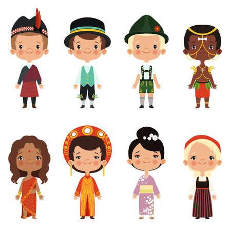 Illustration for Happy kids of various nationalities - Royalty Free Image