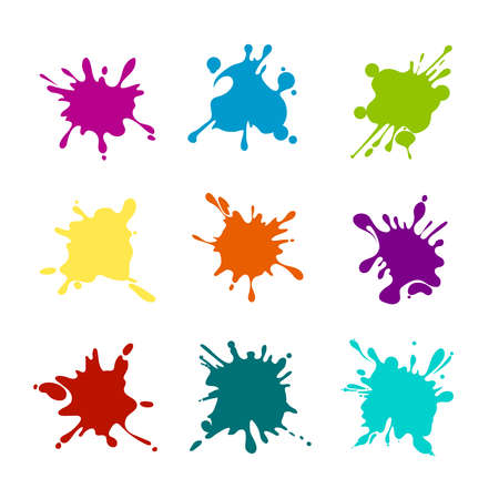 Illustration for Paint splashes of various colors - Royalty Free Image