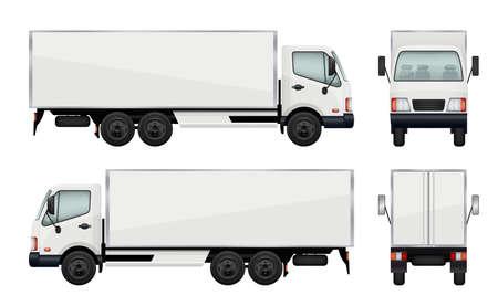 Illustration pour Realistic truck. Vector illustrations transportation of cargo - image libre de droit