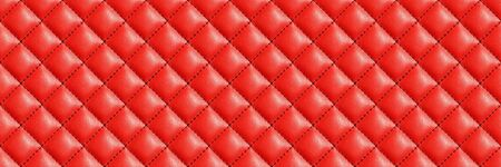 Photo pour Seamless red leather texture background. English red genuine leather upholstery. - image libre de droit