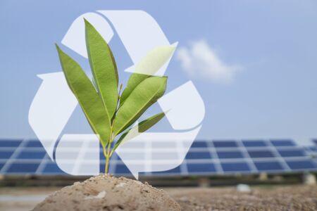 Solar panel, alternative electricity source - concept save world save life.