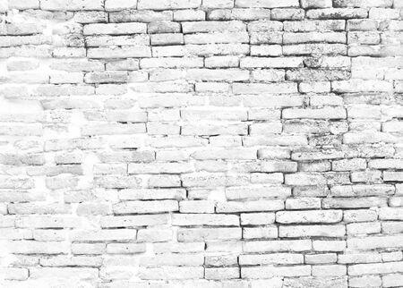 Photo pour white brick wall pattern gray color of modern style design decorative uneven.Loft  style design ideas living home - image libre de droit
