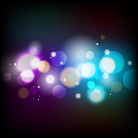 Illustration pour bokeh, abstract blue and purple light - image libre de droit
