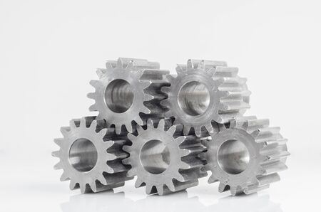 set of gears for meaning unity on isolated background