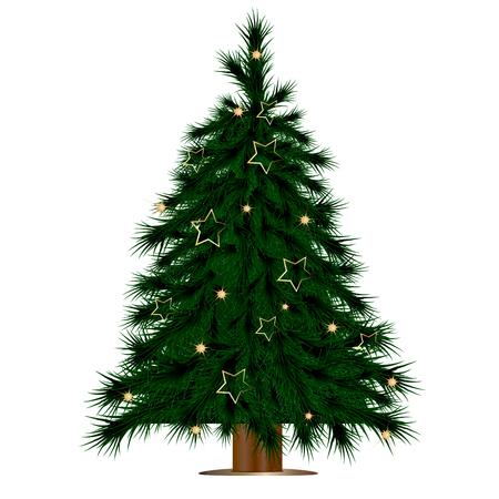 Illustration pour Christmas tree vector art - image libre de droit