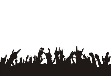 vector illustration crowd on concert