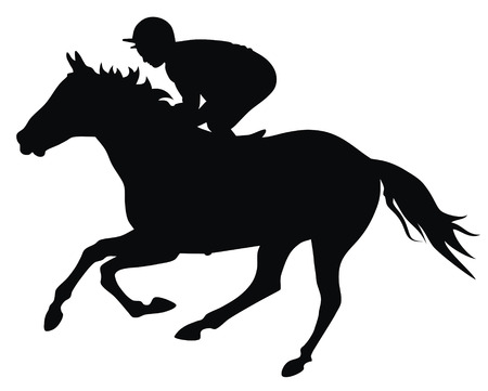 Abstract vector illustration of horce and rider