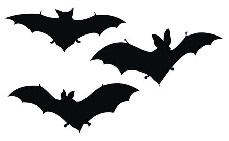 Abstract vector illustration of bats silhouette
