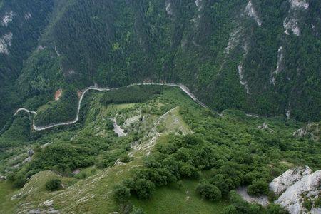 Photo pour Birds eye view from Rodopi mountain - image libre de droit