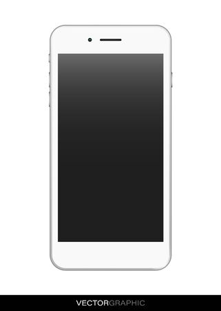 Illustration pour Template of realistic smart phone with off screen. Modern gadgets isolated on white background. Device layout. Vector illustration. - image libre de droit