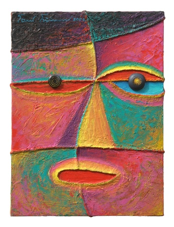 Face 10  Original acrylic painting on canvas