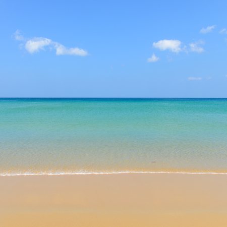 Nature scene tropical beach and blue sky in Karon beach Phuket, Thailand