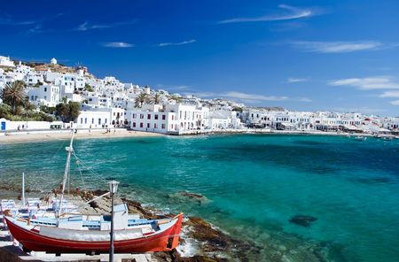 Beautiful Harbour of Mykonos Town, Greece
