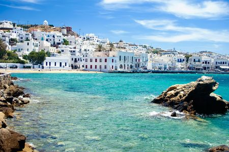 Mykonos, an famous Isle in Greece, by Seaside