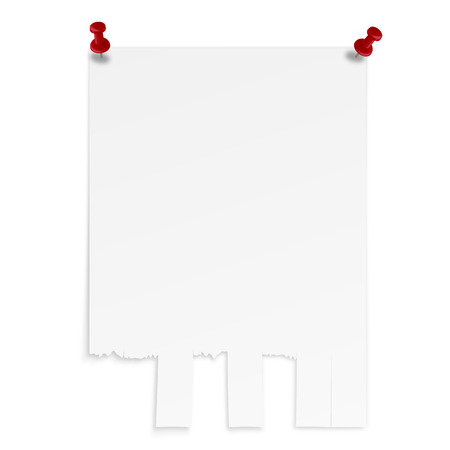 white sheet with copy space - broadsheet