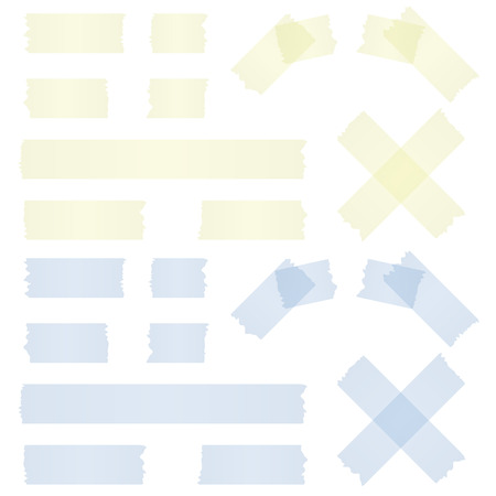 collection of different adhesive stripes - blue   yellow