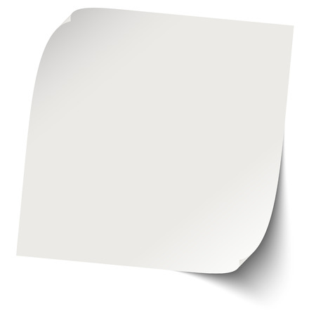 gray sticky note with shadows