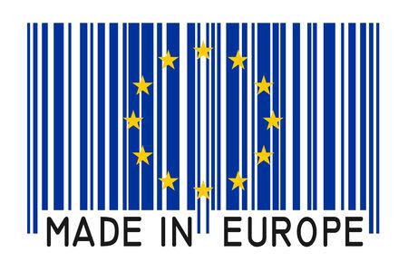 bar code - Made in Europe