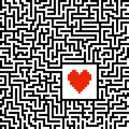 searh for love maze
