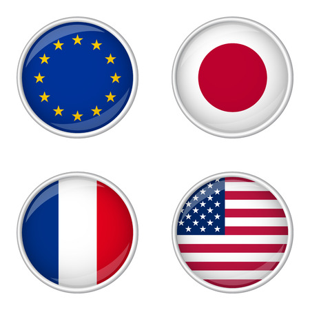 button with flags collection