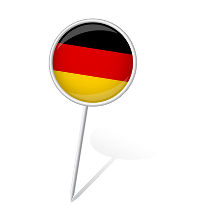 pin round with GERMANY flag