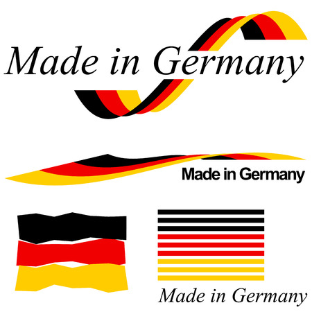 collection of seals of quality MADE IN GERMANY