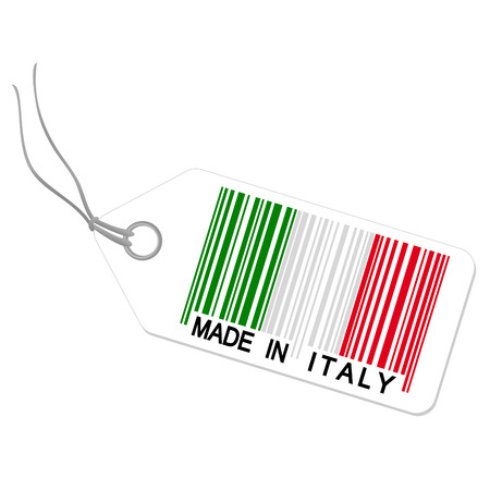 hang tag with made in italy